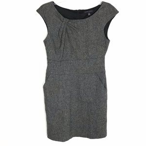 Banana Republic women's tweed wool career dress 6